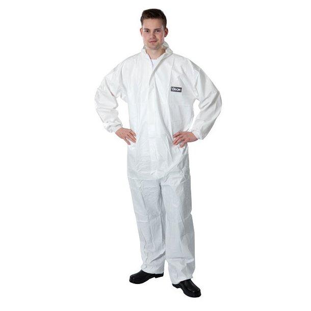 Beskyttelsesdragt, hvid - str. XL