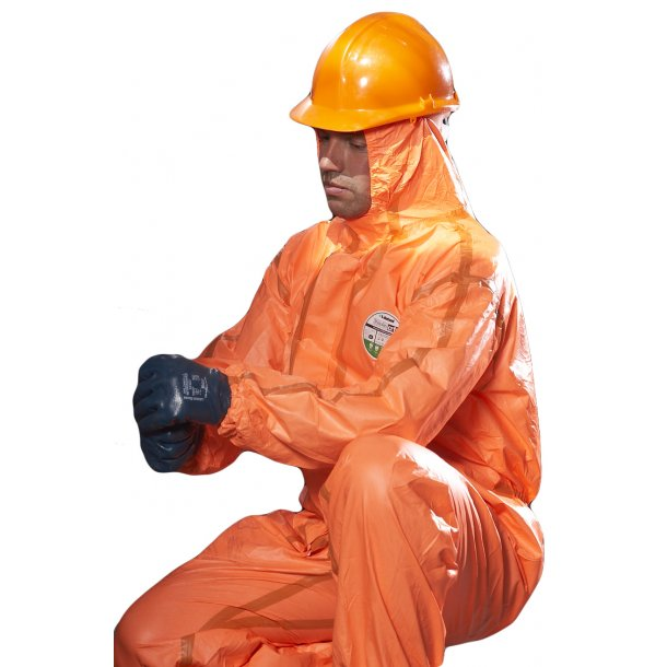 Beskyttelsesdragt, orange - str. L