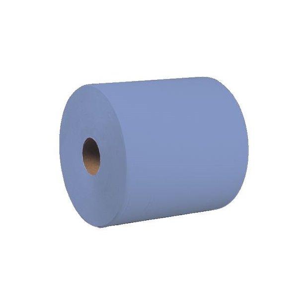 Blå værkstedsrulle med 1000 stk. afrivelige blade, 2 lags