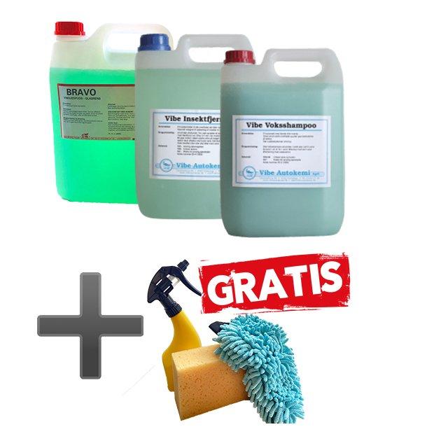 3 dunke bilpleje + GRATIS vaskepakke